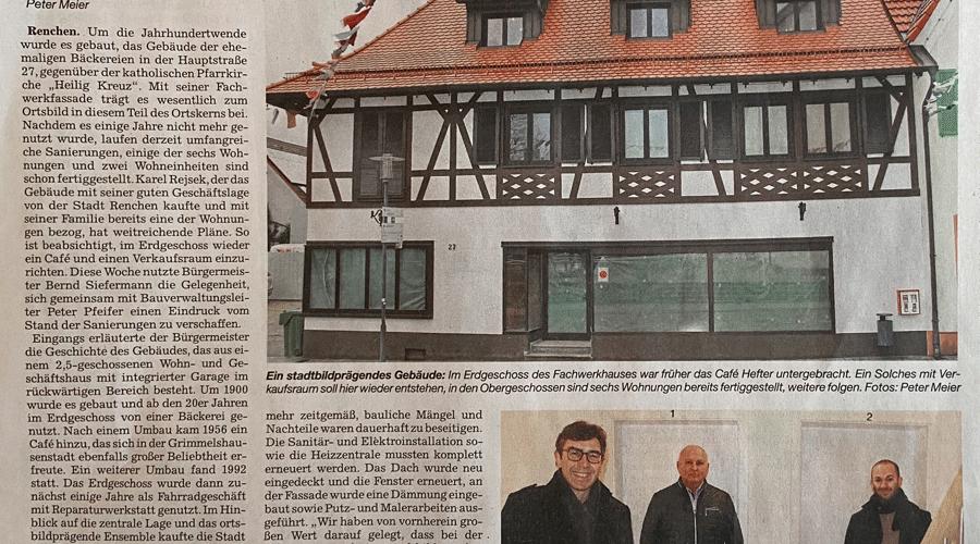 Renchen Fachwerkhaus Renovierung